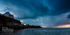 Stormy Skies - Cullercoats (Michael Halliday) Tags: coast clouds culercoats northtyneside sea seascape morning sunrise sky weather northumbria nikond600 nikkor2470f28ged hitech formathitechfilters stormy