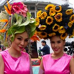 Thai People in Traditional Dress Waiting to Join the Chiang Mai Flower Festival Parade 168 thumbnail
