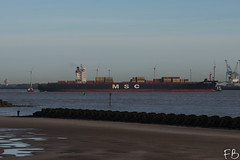 MSC Brianna (frisiabonn) Tags: vehicle ship water wirral liverpool england uk britain marine vessel river mersey merseyside sea shore waterfront maritime boat outdoor msc brianna cargo container tug tugboat smit sandon barbados
