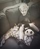 A Boy & his Cat (Colormaniac too - Many thanks for your visits!) Tags: boy cat pet animal indoors youngboy candidcapture blackwhite monochrome vintage boyandcat topazstudio animalplanet blackandwhite netartll