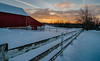 Snowy Sunset #5 (tquist24) Tags: hdr hff indiana nikon nikond5300 outdoor barn clouds cold evening farm fence geotagged rural rustic sky snow sunset tree trees winter topeka unitedstates