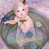 Sunbeams and Daisies and Butterfly Wings (Lauryn Sage Greyson) Tags: sunshine sunbeam rainbow daisies flowers spring bebe second life bucket water photography baby cute butterfly tub toddleedoo