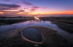L-069-Oval Sunset (arq.alextoro) Tags: algas atardeceres lajollacove landscape landscapes largaexposicion longexposure olas paisaje paisajes sandiego sea sunset texturas twilight seascape seaweed tidepool waves