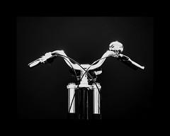 Bike! (RichardK2018) Tags: bicycle bike sunburst contrasty extremecontrast blackandwhite monochrome chrome zuiko75mmf18 olympuspenf