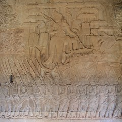 Angkor Wat bas relief (daniel_james) Tags: 2018 canon6d canon1635mm cambodia kambodscha temples angkorwat basrelief sculpture southeastasia khmer