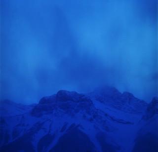Dusk's blue breath