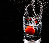 cherry tomato water splash (xhachair) Tags: fruit pluto watersplash water splah cherry tomato glass verre tomate cerise éclaboussures santé trigger splashing eau