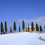 Snow in Pienza Countryside, Val d'Orcia [EXPLORE] thumbnail