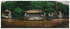 Raining Day (=Heo Ngốc=) Tags: maiantiem temple rain mountains trees rock ancient vietnam landscape ngason green moody panoramic panorama nobody tourism