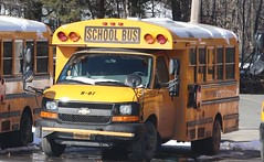 First Student #B-87 (ThoseGuys119) Tags: firststudentinc schoolbus pinebushny thomasbuilt dslr canon eos77d winter sunlight beautiful snow