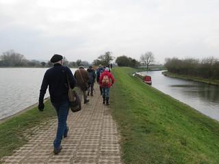 UK - Hertfordshire - Near Marsworth - Walking along Grand Union Canal by Marsworth reservoir