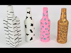 DIY 4 Garrafas Decoradas Animal Print - Do Lixo ao Luxo (portalminas) Tags: diy 4 garrafas decoradas animal print do lixo ao luxo