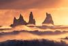 Vik Seastacks (albert dros) Tags: vik iceland travel albertdros gold sea roughsea waves seastacks rocks sunset sunrise