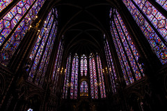 Sacre Chapelle (Sanzio33) Tags: paris parigi france francia vitraille stained glass windows middle ages sacre chapelle saint chapel christ cross jesus saviour crusades king notre dame