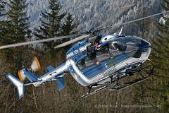 French Police EC145 helicopter, Chamonix, DZ des Bois, 2018 (André Bour - Helico Passion) Tags: helicopter ec145 hems rescue chamonix choucas74 montagne