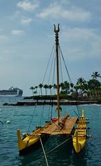 Polynesian Vessel (chumlee10) Tags: cruise2017 kona hawaii canoe emeraldprincess pacific ocean polynesian vessel