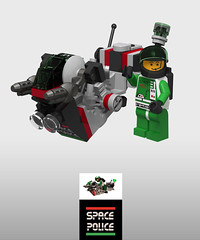 District 18 Space Police 2 hoverbike, digitally yours (Brixnspace) Tags: d18 district18 district 18 space police spacepolice2 classic ldd digital instructions hoverbike speederbike sp2