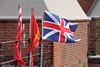Flying the Flag (innpictime ζ♠♠ρﭐḉ†ﭐᶬ₹ Ȝ͏۞°ʖ) Tags: suffolk felixstowe flags unionflag railings rooftops brickwork landguard fort felixstowefort landguardfort englishheritage 519388381321413 flagstaff flyingflag fluttering breeze