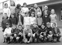 Class Photo (theirhistory) Tags: boy children kid class group form school jumper girls shorts wellies jacket wellingtons shoes pupils students education