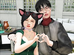We love you! (daisypea) Tags: flickr daisy crowley daisycrowley picture photo photography landscape teen teenage life roleplay rp virtual world secondlife second family kawaii cute spam siblings finch winter we love you hera heart together bento