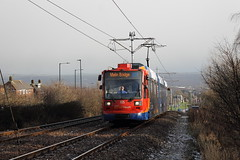 Stagecoach Supertram 105, Birley 16/01/18 (TC60054) Tags: stagecoach sheffield siemens duewag supertram duwag siemensduewag south yorkshire sysl tram tramway light rail railway metro lrv