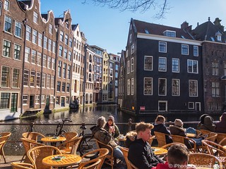 Sunny and cold Amsterdam