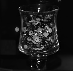 Crystal (Images by Jeff - from the sea) Tags: blackandwhite glass crystal bokeh nikon tamronsp2470mmf28divcusd d7200 7dwf reflections sequins depthoffield