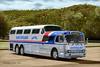 Greyhound RWB Colorized (gdmey) Tags: greyhound buses transportation transport scenicruiser colorized