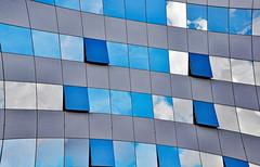 Curvature of Spacetime (Ciceruacchio) Tags: spacetimecurvature courburedel'espacetemps curvaturadellospaziotempo relativity relativitégénérale relativitàgenerale einstein distortion distorsion distorsione clouds nuages nuvole blue bleu blu eur rome roma nikon geométric