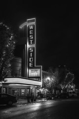 Westside (NormFox) Tags: bw bnw blackandwhite california city lights monochrome neon newman stanislauscounty street theater town westside