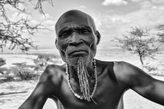 Old Karo Warrior (Rod Waddington) Tags: africa african afrique afrika äthiopien ethiopia ethiopian ethnic etiopia ethnicity ethiopie etiopian omovalley omo outdoor omoriver karo tribe traditional tribal culture cultural blackandwhite monochrome mono old man portrait people