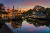 Rivers of America Sunset (MarcStampfli) Tags: disney florida frontierland libertysquare magickingdom nikond3200 riversofamerica themeparks vacationkingdom wdw waltdisneyworld