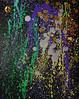 """Mardi Gras Night Parade - #3 "" (BKHagar *Kim*) Tags: bkhagar art artwork painting paint acrylic mixedmedia mardigras abstract nightparade3 purple green gold night impressionist fleurdelis"