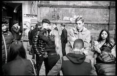 (Kiss Me) (Robbie McIntosh) Tags: leicamp leica mp rangefinder streetphotography 35mm film pellicola analog analogue negative leicam summilux analogico leicasummilux35mmf14i blackandwhite bw biancoenero bn monochrome argentique summilux35mmf14i autaut dyi selfdeveloped filmisnotdead kodaktrix400 kodak trix d76 kodakd76 leicasummilux35mmf14 summilux35mmf14preasph strangers boy girl kiss