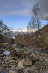 Beautiful Day (andyrousephotography) Tags: lakedistrict ashnessbridge keswick derwentwater lake water stream log bare bark storm flood floodwater skiddaw fells hills crisp winter cold snow andyrouse canon eos 5d3 5dmkiii ef24105mmf4l
