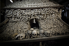 MKP (Martin Kriebernegg) Tags: urbex urban exploration forgotten found former old historic church chapel creepy dark light bones skull travel canon