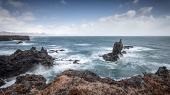 Stormy day (Mika Laitinen) Tags: canon5dmarkiv europe iceland leefilters cliff cloud color landscape mountain nature ocean outdoors rock sea seascape sky storm water wave arnarstapi is
