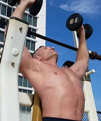 shoulder press (ddman_70) Tags: shirtless workout muscle gym