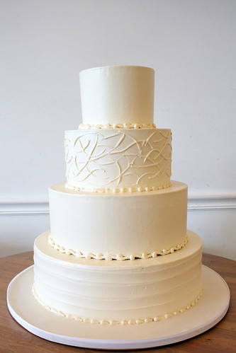 Alternating Textures Buttercream Wedding Cake