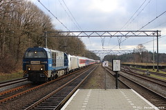 Alpen Express in Ede-Wageningen, 04-02-2018 (PeterBrabant) Tags: v203 alpen express ede ae 186449 kre railpool