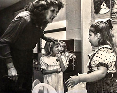 First Day of Kindergarten (Bob G. Bell) Tags: kindergarten school firstday teacher student classroom bw children bobbell film