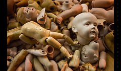 They'll Take Your Soul if You Let Them (Whitney Lake) Tags: junkstore parts antique clay porcelain dolls toys