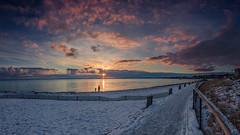 yesterdays Sunset (LB-fotos) Tags: 8mm schnee sonnenuntergang winter balticsea beach coast fisheye küste ocean ostsee snow strand sunset wasser water
