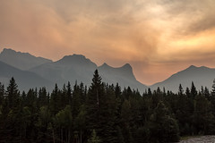 Sky and Clouds... (murph le) Tags: mountains sky smoke forest fires alberta canmore landscape clouds 52weekthemechallenge