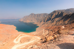 Musandam, Oman (Robert Haandrikman) Tags: red beauty beautiful people fisher fishing dhaw fish snorkelling beach rock rocks mountains oman musandam blue yellow sun sky water sea dolphin dolphins cruise