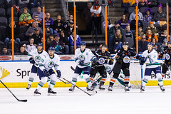 "Kansas City Mavericks vs. Florida Everblades, February 18, 2018, Silverstein Eye Centers Arena, Independence, Missouri.  Photo: © John Howe / Howe Creative Photography, all rights reserved 2018 • <a style=""font-size:0.8em;"" href=""http://www.flickr.com/photos/134016632@N02/40387892791/"" target=""_blank"">View on Flickr</a>"