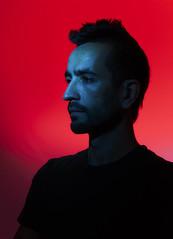 'Red & Blue' Week (07/07) (elgunto) Tags: portrait man red blue homemadestudio shadows silhouette sonya7 sonyfe55mm18 lights flashes