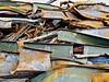 """Scrapped"" (Halvorsong) Tags: art urban urbanart steel iron industry industrialphotography abandoned abandonedplaces colors color composition nashville city metal rust green rusty oxidized oxidization demolition junk junkyard"