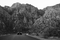 Lambo & Canyon (JasonCameron) Tags: road tour mountain lambo lamborgini red rock canyon nevada black white monochrome