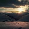 One ray of light. (Massetti Fabrizio) Tags: sunset sunlight twilight sun sunrise castelluccio marche mountain mount macerata iq180 italia italy rodenstock red snow clouds color cambo